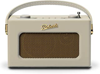 Roberts Revival Uno Compact DAB/DAB+/FM Digital Radio with Alarm, Pastel Cream