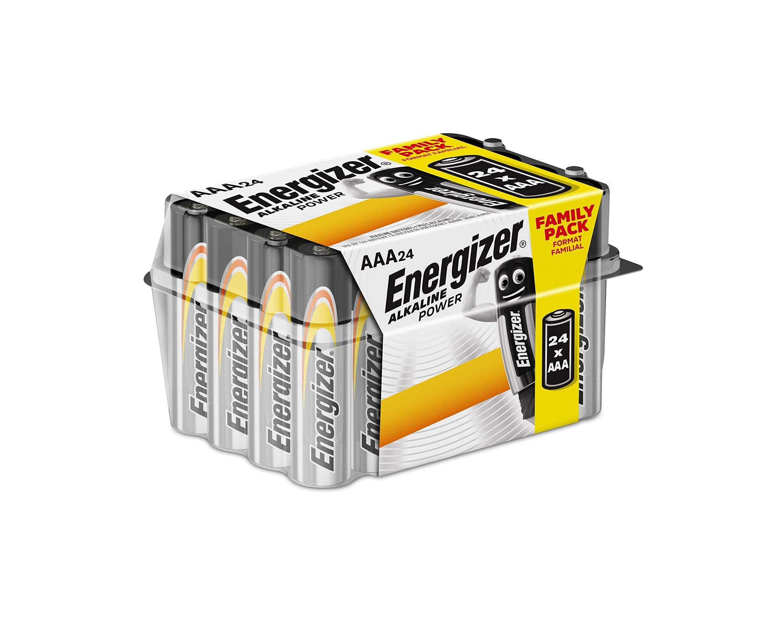 Energizer E92 - Pack de 24 pilas alcalinas AAA, color negro: Amazon.es: Electrónica