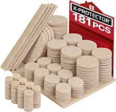 X-PROTECTOR Premium Ultra Large Pack Furniture Pads 181 Piece! Felt Pads Furniture Feet All Sizes – Your Best Wood Floor Protectors. Protect Your Hardwood & Laminate Flooring with 100% Satisfaction!