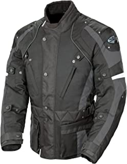 Joe Rocket Ballistic Revolution Men's Textile Motorcycle Riding Jacket (Black/Gray, X-Large)