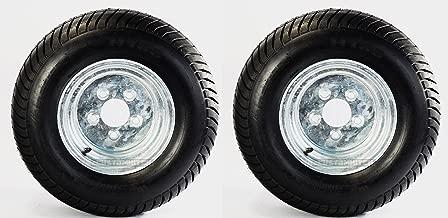 2-Pack Utility Trailer Tires Rims 20.5X8-10 205/65-10 20.5X8.0-10 5 Lug E Galv