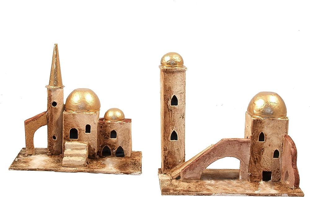 Ferrari & arrighetti , 2 casette arabe ,paesaggio del presepe. Bertoni_555S/4