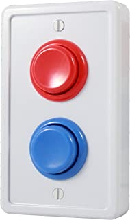 Arcade Light Switch Plate Cover, Single Switch (White/Red/Blue), 1-Gang Standard Size Rocker Wall Plate, Game Room Decorator, Kid Bedroom Wallplate, Faceplate Replacement