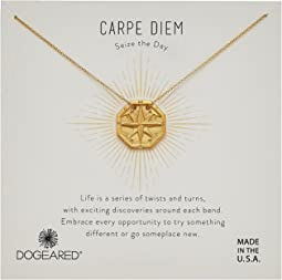 Carpe Diem, Slide Through Compass Necklace