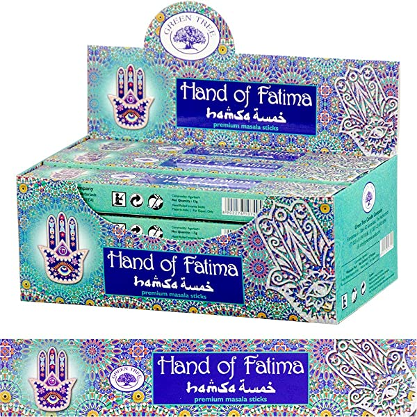 Kheops International Green Tree Incense Stick 12 X 15gr Hand Of Fatima