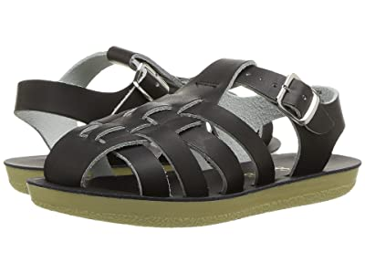 Salt Water Sandal by Hoy Shoes Sun-San Sailors (Toddler/Little Kid) (Black) Kids Shoes