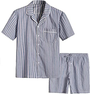 Latuza Men's Cotton Woven Short Sleepwear Pajama Set