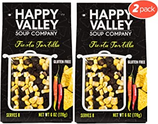 Happy Valley Fiesta Tortilla Soup - Dried Soup Mix | Zesty Southwest Flavor | Gluten Free | Serves 8 (2-Pack)