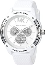 Michael Kors Women's Ryder Stainless Steel Quartz Watch with Rubber Strap