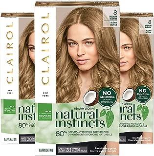 Clairol Natural Instincts Semi-Permanent, 8 Medium Blonde, Moonlight Blonde, 3 Count