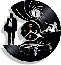 Special Agent handmade vinyl wall clock - great gift for your man - unique home decor