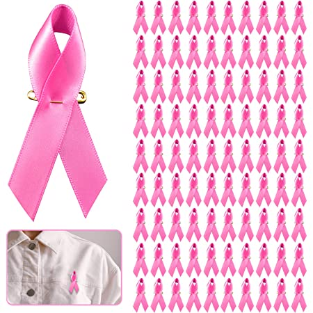 Fundraising Lapel Buttons Charity Event Survivor Campaign Party Favors Supplies Pink Ribbon Breast Cancer Awareness Pins