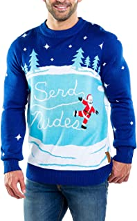 Men's Send Nudes Funny Ugly Christmas Holiday Sweater
