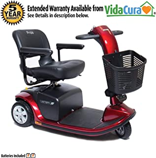 Pride Victory 9 3-Wheel Scooter w/Avail ext warr (Red)