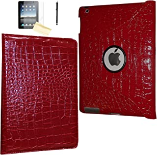 JYtrend Case for iPad Mini 5 (2019 Release), Rotating Stand Smart Magnetic Auto Wake Up/Sleep Cover for Model A2133 A2126 A2124 A2125 MUXG2LL/A MUXN2LL/A MUXH2LL/A MUXP2LL/A MUXY2CH/A (Crocodile)