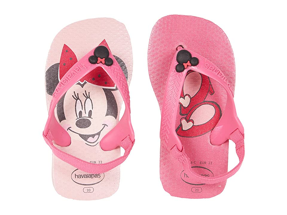 Havaianas Kids Baby Disney Classics Flip-Flop (Toddler) (Pearl Pink) Girls Shoes