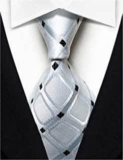Wehug Men's Classic Silk Tie Woven Necktie Jacquard Neck Ties For Men