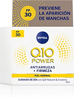 NIVEA Q10 Power Antiarrugas Cuidado de Día Triple Defensa FP30 (1 x 50 ml) crema hidratante antiarrugas crema facial con...
