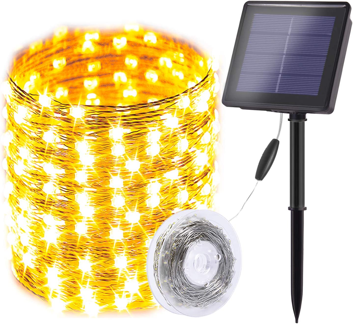 Solar String Lights Outdoor,200 LED Total & 75 Ft Ultra Long Starbright Solar Light with 1800 Mah Battery Backup,8 Modes Solar Fairy Lights for Garden Patio Yard Party Decoration