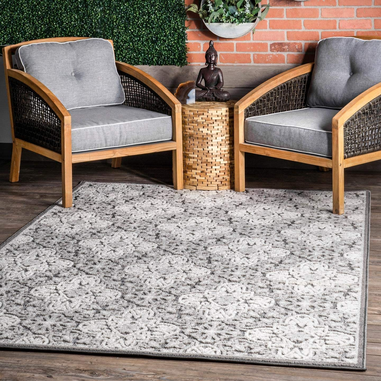 nuLOOM Macie Textured Snowflake Indoor Outdoor 6' Area Rug x Sale SALE% Super popular specialty store OFF 7