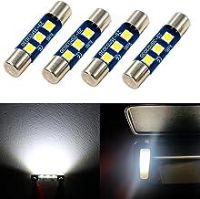 Alla Lighting 4pcs Extremely Super Bright 6000K Xenon White High Power 3030 SMD 29mm 6614 6614F 6641 6612F F30-WHP TS-14V1CP LED Replacement Bulbs For Car SUV Truck Sunvisor Flips Vanity Mirror Lights