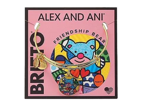 Alex And Ani Romero Britto Art Infusion Friendship Bear, YELLOW GOLD