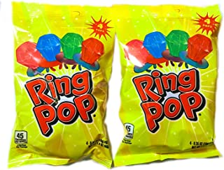 Ring Pops with Strawberry, Watermelon, Blue Raspberry and Cherry (2 Packs)