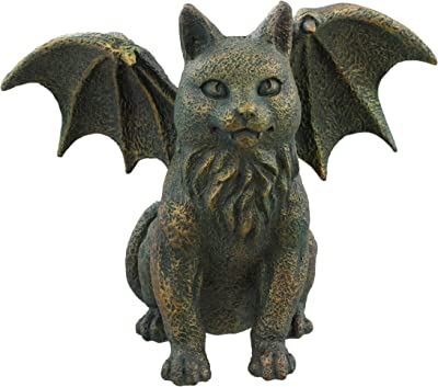 Amazon Com Design Toscano Pd0315 Whittingford The Chagrined Sitting Dragon Sculpture Greystone Home Kitchen