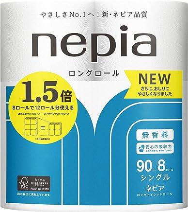 【ケース販売】 ネピア ロング トイレットロール 8ロール シングル (90m巻) 無香料×8個