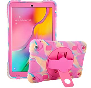 Galaxy Tab A 10.1 Case 2019, Samsung Tablet Case -T510/-T515 Shockproof Rugged Protective Case Cover for Kids, with Rotati...