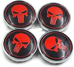 4X60mm Car Emblem Wheel Hub Caps Centre Cover Caps Punisher Logo Sticker for BMW