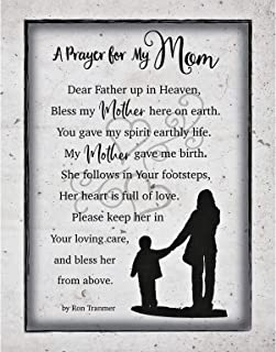 Mom Mother Prayer Wood Plaque with Inspiring Quotes 11.75