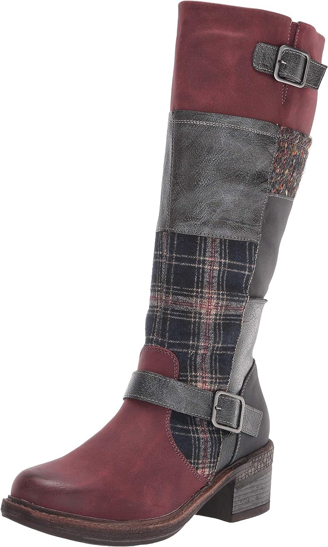 MUK LUKS Women's Arya Boot-Burgundy Fashion