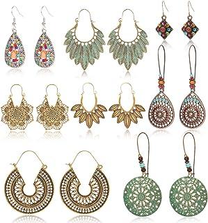 Boho earrings,Mandala earrings,Boho Chic earrings,Bluedeep purple earrings,Bohemian earrings,Czech glass earrings,Disc earrings,Ethnic.