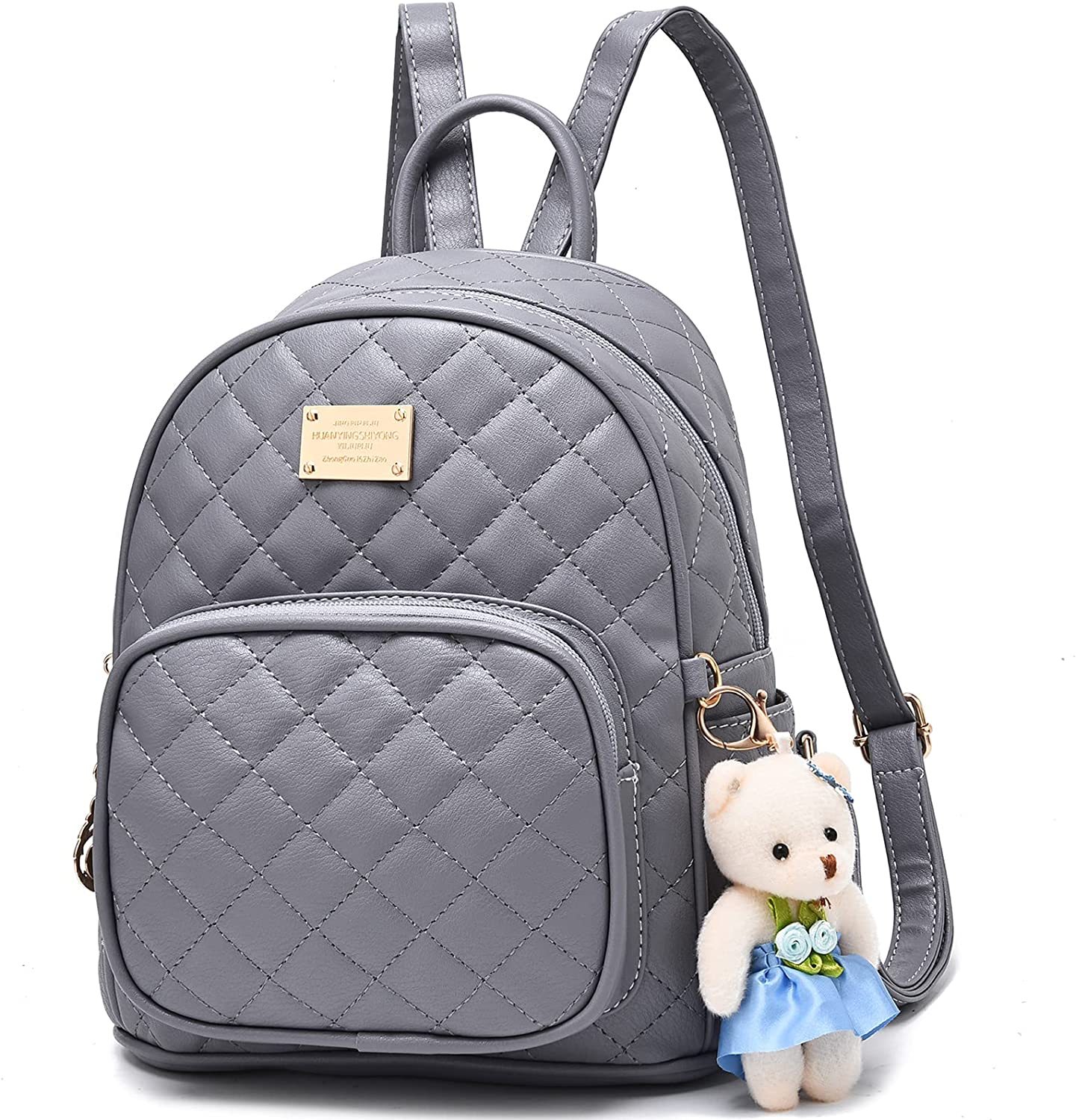 Cute Mini Leather Backpack Purse Satchel School Bags Casual Travel Daypacks for Womens