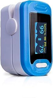 Mobiclinic, Saturimetro da dito, PY 04, Marchio Europeo, Pulsossimetro da dito portatile, Marcatura Europea, Schermo LED, ...