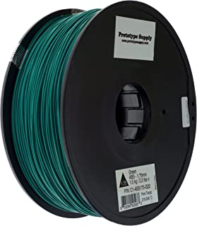 Prototype Supply 1.75mm ABS Green 3D Printing Filament, 1kg (2.2 pounds)