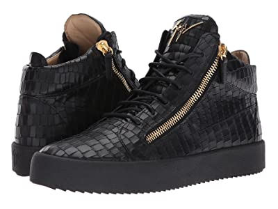 Giuseppe Zanotti May London Mid Top Zayn Sneaker (Black) Men