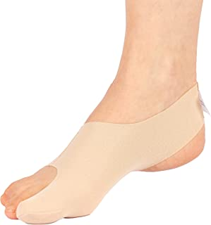 Bunion Sleeve - The Ultra Thin Hallux Valgus Corrector & Protector / Toe Straightener - Active Relief & Support for Bunions - EXERCISE FRIENDLY | Comfortable with Trainers or Shoes - Effective Treatment without Surgery - Unisex | Left and Right Sized for Men and Women