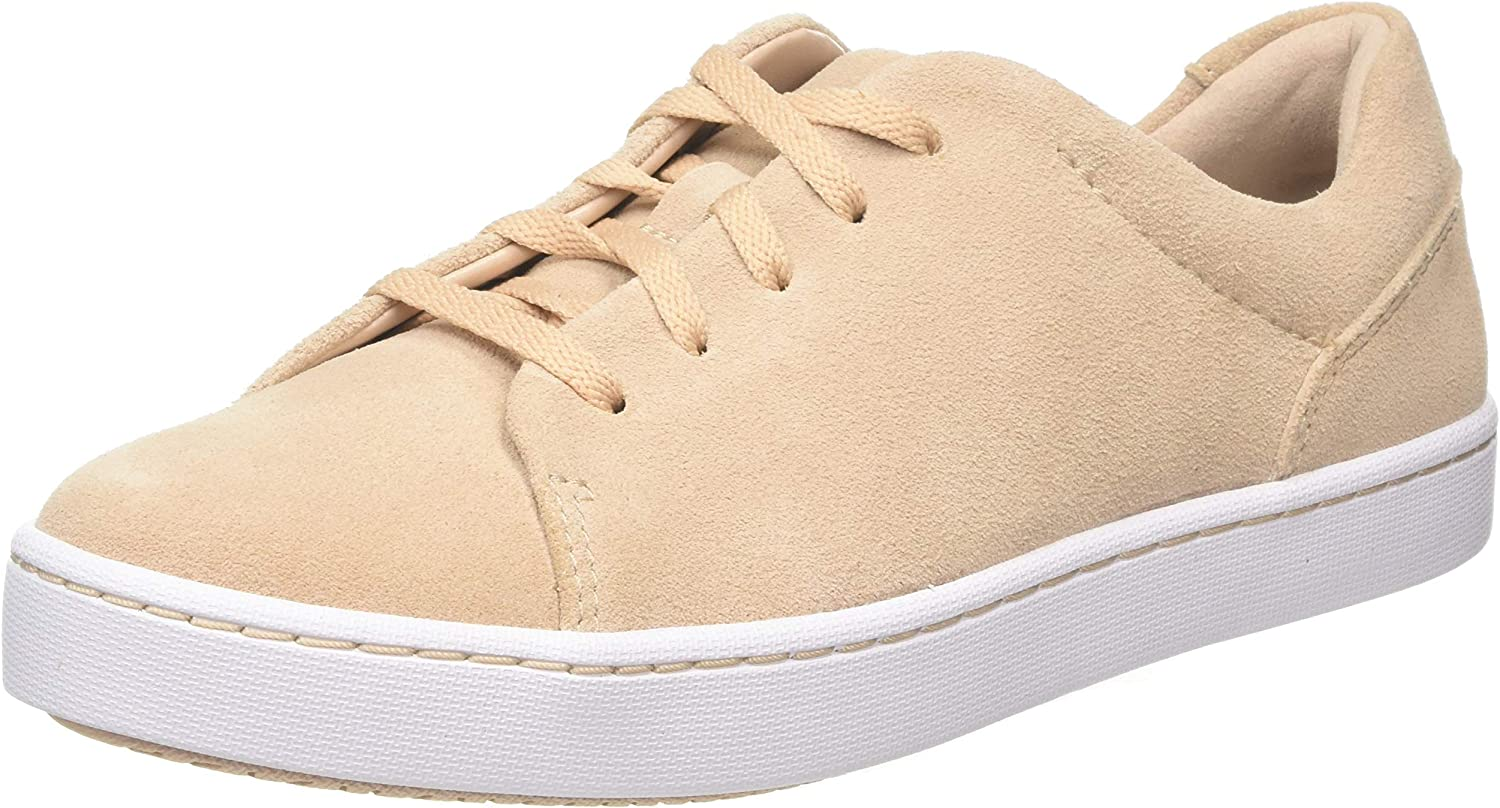 Clarks Women's Pawley Springs Low-Top Sneakers, Blue (Blush Suede Blush Suede)