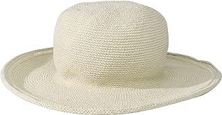 Women's Cotton Crochet Floppy Hat with 3 Inch Brim