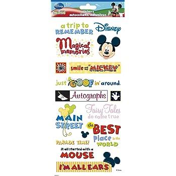 Multi Color Heads EKS DMHGS Disney Mickey Gem Stickers