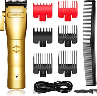 Kemei Professional Mens Hair Clippers Hair Trimmer for Men Cordless Grooming Kit Kemei 2850 for Barbers and Stylists USB R...