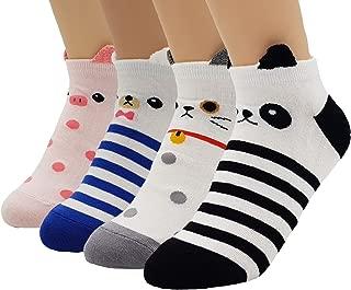 Women's Sweet Animal Cotton Blend Socks Set One Size Fits All