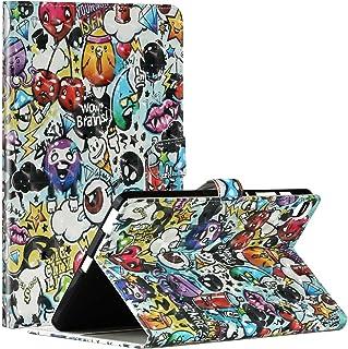 جراب Mylne Tablet لهاتف Samsung Galaxy Tab S6 Lite {10.4 بوصات} 2020 P610، جراب محفظة قلاب من الجلد الصناعي بتصميم ثلاثي ا...