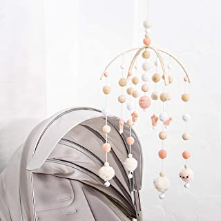 Baby Crib Mobile Bed Wind Wooden Bell Rattle Nordic Style Beads Chimes for Kids Room Hanging Newborn Gifts Nursery Decor
