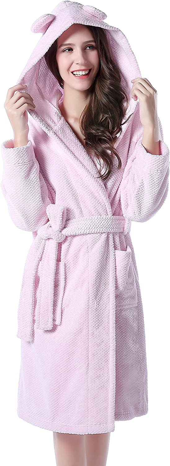 Richie House Women's OFFicial shop Bathrobe Robe Over item handling RHW2498 Two Ears with