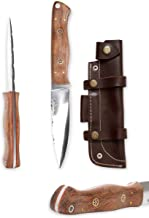 Handmade Hunting Knife - Beautiful Bushcraft Knife with Sheath
