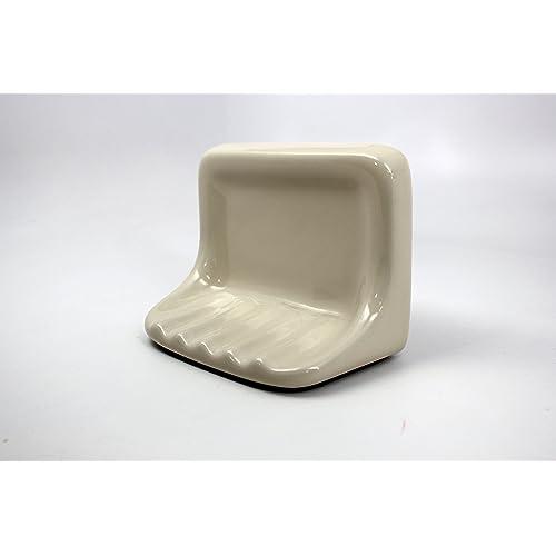 Bath Accessories Bone Almond Ceramic Soap Dish Holder