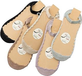 (コナミヤ) Konamiya レディース 透明なレースソックス 爽やかな靴下 かわいいデザイン 夏用 おしゃれ 5足セット